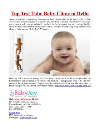 Top Test Tube Baby Clinic in Delhi