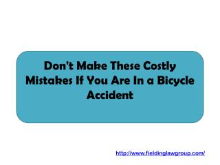 Don't Make These Costly Mistakes If You Are In a Bicycle Accident