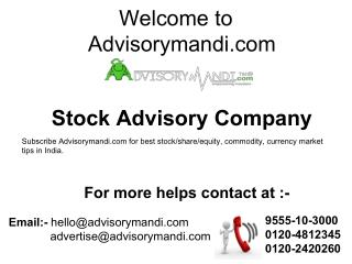 Stock Advisory Company in India- Advisorymandi.com Pvt. Ltd.