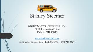 Stanley Steemer Cleaning Services