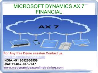 Microsoft Dynamics Ax 7 Financial Online Training Institute