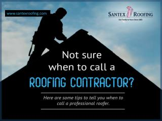 Top Reasons to Call a Roofing Contractor