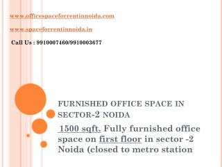 1500 sqft fully furnished (9910007460) office space for rent in noida sector 2