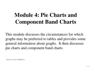 Module 4: Pie Charts and Component Band Charts