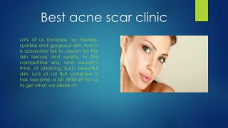 Best acne scar treatment clinic