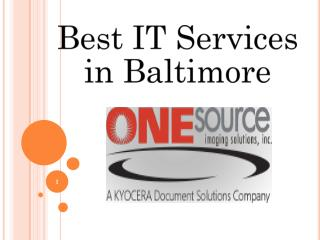 Best IT Services in Baltimore