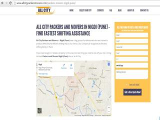 All City Packers and Movers in Nigdi (Pune) – Find fastest shifting assistance
