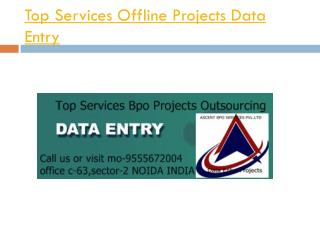 Top Services Data Entry Project Outsourcing