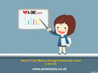 Make Full Use of Unsecured Loans in Desperate Financial Conditions