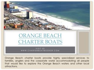 Orange Beach Charter Boats