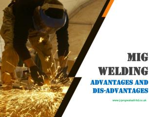 Mig Welding Advantages And Disadvantages