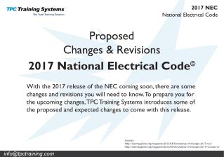 2017 Changes to the NEC Code