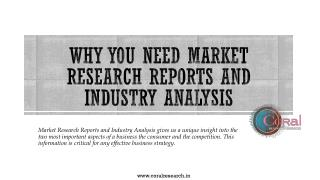 Why You Need Market Research Reports and Industry Analysis