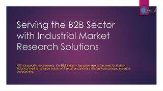 Serving the B2B Sector with Industrial Market Research Solutions