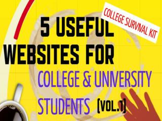 5 Useful Websites for College & University Students