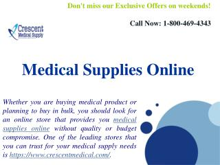 Medical Supplies Online And Medical Equipment