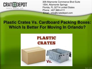 Plastic Moving Crates Vs.Cardboard Packing Boxes For Moving