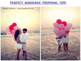 Perfect marriage proposal tips