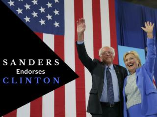 Sanders endorses Clinton