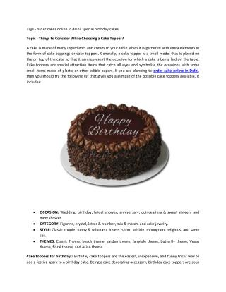 Cake Topping Elements