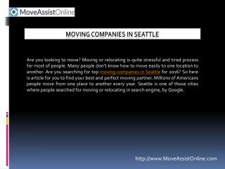 List of Top Moving Companies in Seattle