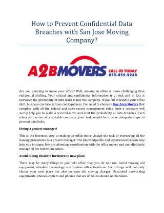 How to Prevent Confidential Data Breaches with San Jose Moving Company?