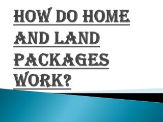 Affordable Home and Land Packages In Brisbane
