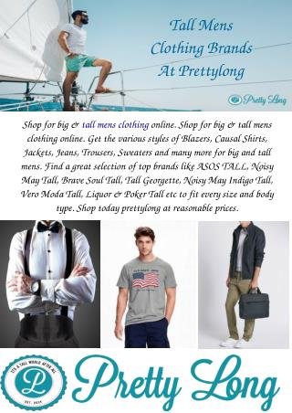 Tall Mens Clothing