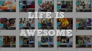 Life is awesome - creating an av with powerpoint
