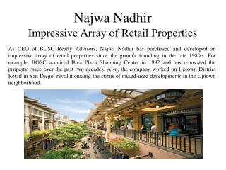 Najwa Nadhir – Impressive Array of Retail Properties
