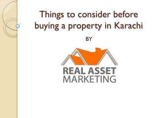 Things to consider before buying a property in Karachi
