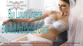 Shop Online For Luxury Lingerie, Bras and Panties