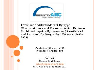 Fertilizer Additives Market: Optimize your fertilizer production with high quality fertilizer additives