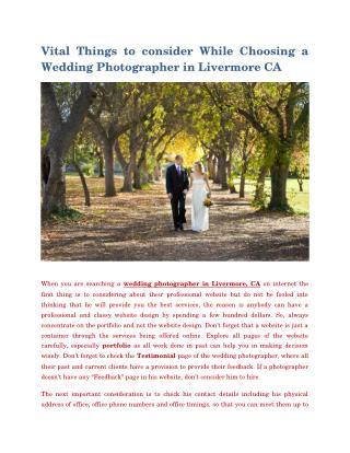 Wedding Photographerlivermore Ca