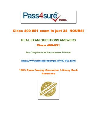 Pass4sure 400-051 Dumps