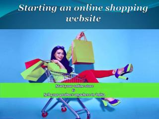 Starting an online shopping website