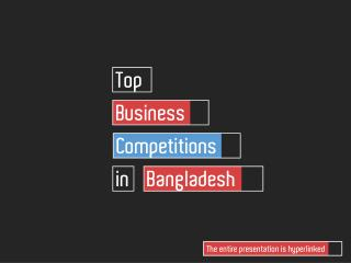 Top Business Competitions in Bangladesh