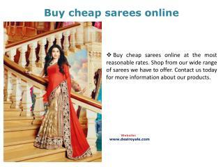 Buy cheap sarees online