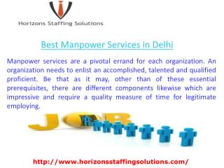 Best Manpower Services in Delhi