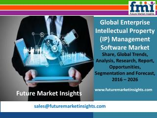 Market Forecast Report on Enterprise Intellectual Property (IP) Management Software 2016-2026
