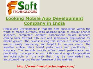 Looking Mobile App Development Company in India