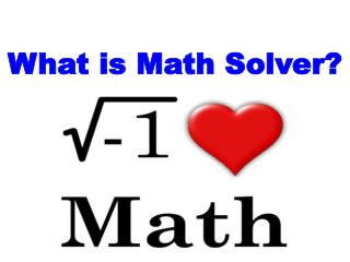 What is Math Solver?