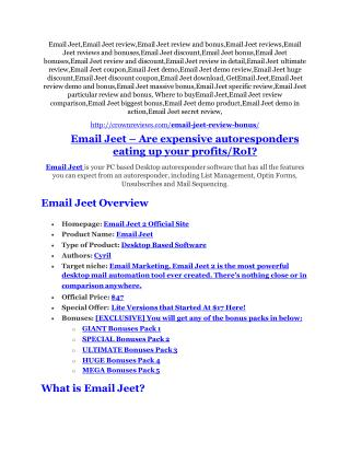 Email Jeet review in detail and (FREE) $21400 bonus