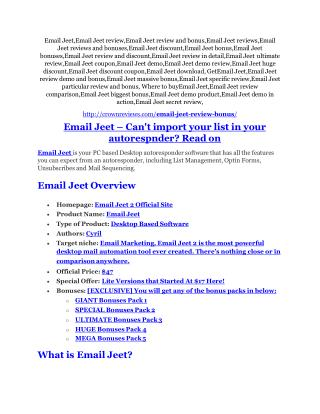 Email Jeet review - A top notch weapon