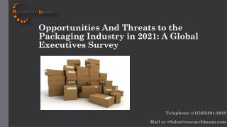 Opportunities And Threats to the Packaging Industry in 2021: A Global Executives Survey