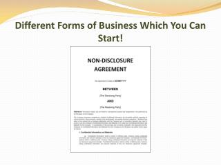 Different Forms of Business Which You Can Start!