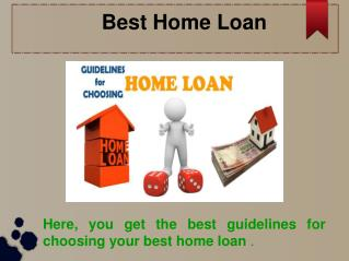 Best Home Loan