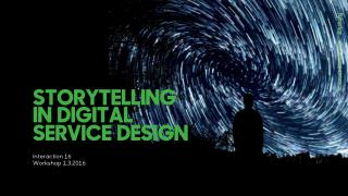 Storytelling in Digital Service Design