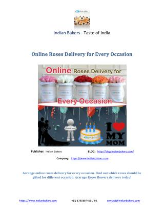 Online Roses Delivery for Every Occasion