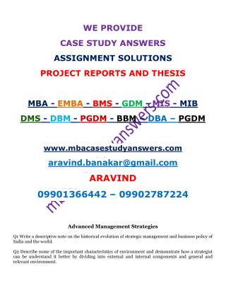 Advanced Management Strategies. Agri Business Mgmt. Business Ethics.Business Mgmt. ARAVIND 9901366442.pdf